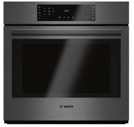 "HBL8442UC Bosch 800 Series 30"" Single Electric Wall Oven with EcoClean and European Convection - Black Stainless Steel"