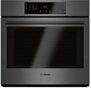 """HBL8443UC Bosch 30"""" 800 Series Single Electric Wall Oven with Genuine European Convection and SteelTouch Buttons - Black Stainless Steel"""