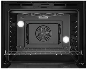 """HBL8463UC Bosch 30"""" 800 Series Single Electric Wall Oven with Genuine European Convection and SteelTouch Buttons - Black"""