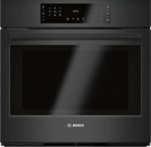 "HBL8463UC Bosch 30"" 800 Series Single Electric Wall Oven with Genuine European Convection and SteelTouch Buttons - Black"