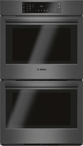 "HBL8642UC Bosch 800 Series 30"" Double Electric Wall Oven with EcoClean and European Convection- Black Stainless Steel"