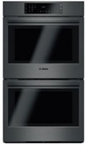 """HBL8642UC Bosch 800 Series 30"""" Double Electric Wall Oven with EcoClean and European Convection- Black Stainless Steel"""
