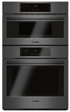 """HBL8742UC 30"""" Bosch 800 Series Speed Combination Wall Oven with Fast Preheat and EcoClean 2 Hour Self Clean Cycle - Black Stainless Steel"""