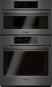 "HBL8743UC 30"" Bosch 800 Series Speed Combination Wall Oven with 9 SpeedChef Programs and Genuine Convection Oven - Black Stainless Steel"