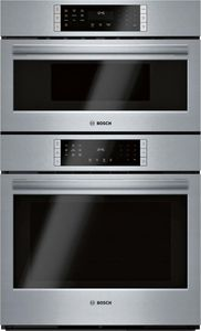 "HBL8753UC 30"" Bosch 800 Series Speed Combination Wall Oven with 9 SpeedChef Programs and Genuine Convection Oven - Stainless Steel"