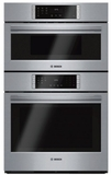 """HBL87M52UC 30"""" Bosch 800 Series Self Cleaning Microwave Wall Oven Combo with European Convection and Touch Controls - Stainless Steel"""