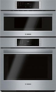 "HBL87M53UC 30"" Bosch 800 Series Speed Combination Wall Oven with Steel Touch Buttons and QuiteClose Door - Stainless Steel"