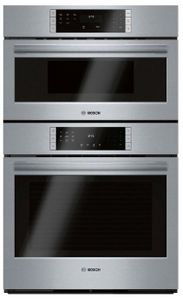 """HBL87M53UC 30"""" Bosch 800 Series Speed Combination Wall Oven with Steel Touch Buttons and QuiteClose Door - Stainless Steel"""
