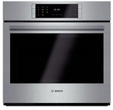 """HBLP451UC 30"""" Bosch Benchmark Series Single Electric Wall Oven with Genuine European Convection and EcoClean - Stainless Steel"""