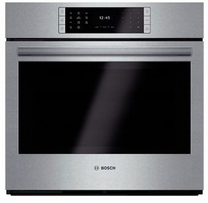 "HBLP451UC 30"" Bosch Benchmark Series Single Electric Wall Oven with Genuine European Convection and EcoClean - Stainless Steel"