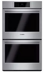 "HBLP651UC 30"" Bosch Benchmark Series Double Electric Wall Oven with Genuine European Convection and EcoClean - Stainless Steel"