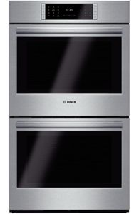 """HBLP651UC 30"""" Bosch Benchmark Series Double Electric Wall Oven with Genuine European Convection and EcoClean - Stainless Steel"""