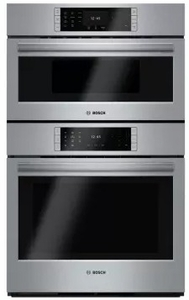 "HBLP752UC 30"" Bosch Benchmark Series Electric Speed Microwave Combination Wall Oven with European Convection and 14 Cooking Modes - Stainless Steel"