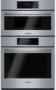 """HBLP752UC 30"""" Bosch Benchmark Series Electric Speed Microwave Combination Wall Oven with European Convection and 14 Cooking Modes - Stainless Steel"""