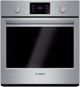 "HBN5451UC Bosch 500 Series 27"" Single Electric Wall Oven with Thermal Cooking - Stainless Steel"
