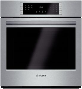 "HBN8451UC Bosch 800 Series 27"" Single Electric Wall Oven with European Convection - Stainless Steel"
