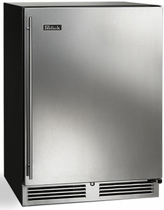 "HC24WB31L Perlick 24"" C Series Left Hinge Built-In Indoor Wine Reserve with 40 Wine Storage and RapidCool Forced Air Refrigeration System - Stainless Steel"
