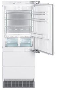 "HCB1580 Liebherr 30"" Right Hinge Freestanding Bottom Freezer Counter Depth Refrigerator with NoFrost and DuoCooling - Custom Panel"