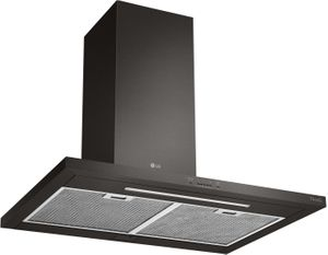 """HCED3615D LG 36"""" Wall Mount Chimney Range Hood with 600 CFM WiFi Capabilities - Black Stainless Steel"""