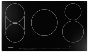 "HICT365BG Dacor 36"" Heritage Collection Induction Cooktop with Power Boost and Sensetech Induction Technology - Black Ceramic Glass"