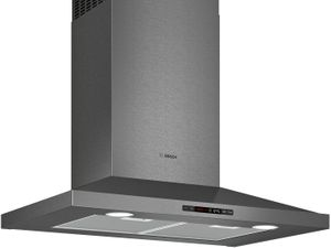 """HCP80641UC Bosch 30""""  800 Series Pyramid Chimney Hood  with LCD Touch Display and 600 CFM - Black Stainless Steel"""