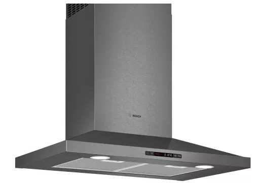"HCP80641UC Bosch 30""  800 Series Pyramid Chimney Hood  with LCD Touch Display and 600 CFM - Black Stainless Steel"