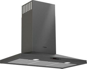 """HCP86641UC Bosch 36""""  800 Series Pyramid Chimney Hood  with LCD Touch Display and 600 CFM - Black Stainless Steel"""