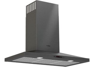 "HCP86641UC Bosch 36""  800 Series Pyramid Chimney Hood  with LCD Touch Display and 600 CFM - Black Stainless Steel"
