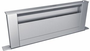 "HDD86050UC Bosch 36"" 800 Series Built-In Downdraft Hood with Sleep Front Panel Filter Design and 5 Exhaust Connections - Stainless Steel"