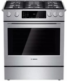 "HDIP054U Bosch 30"" Benchmark Series Dual Fuel Slide-in Range with Touch Controls and Standard Convection - Stainless Steel"