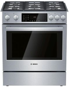 "HDIP056UC Bosch 30"" Benchmark Series Dual Fuel Slide-in Range with Touch Controls and European Convection - Stainless Steel"
