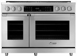 "HDPR48SLP Dacor 48"" Heritage Collection Liquid Propane Dual Fuel Pro Range with Pro Handles and Illumina Burner Controls - Stainless Steel"