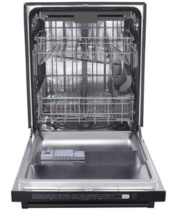 "HDW2401BS Thor Kitchen 24"" Professional Top Control Dishwasher - Black Stainless Steel"
