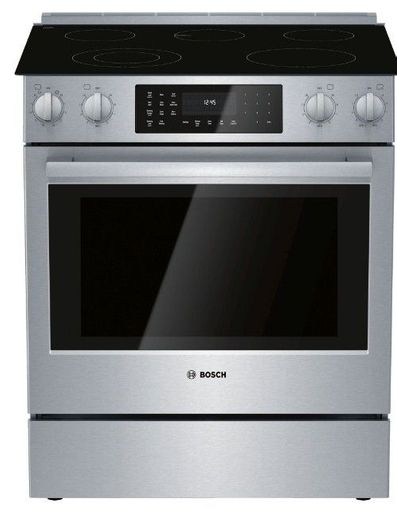 "HEI8056U Bosch 30"" 800 Series 5 Element Electric Slide-in Range with European Convection and 11 Specialized Cooking Modes - Stainless Steel"