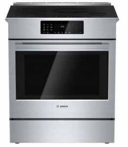 "HEIP054U Bosch 30"" Benchmark Series Electric Slide-in Range with Touch Controls and Genuine European Convection - Stainless Steel"