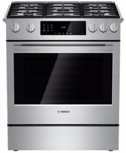 "HGIP054UC Bosch 30"" Benchmark Series Gas Slide-in Range with Touch Controls and Standard Convection - Stainless Steel"