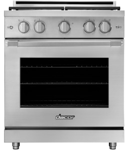 """HGPR30SNG Dacor 30"""" Heritage Collection Natural Gas Self Cleaning Pro Range with Pro Handles and High Performance Dual Stacked Burners - Stainless Steel"""