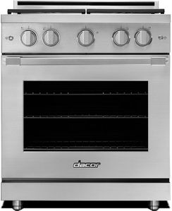 """HGPR30SNG Dacor 30"""" Professional Natural Gas Self Cleaning Pro Range with Pro Handles and High Performance Dual Stacked Burners - Stainless Steel"""