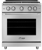 """HGPR36SBNG Dacor 36"""" Heritage Collection Natural Gas Self Cleaning Pro Range with Pro Handles and High Performance Dual Stacked Burners - Stainless Steel"""