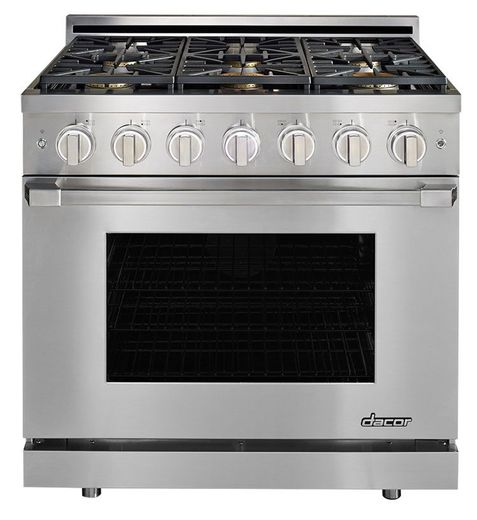 "HGPR36SNG Dacor 36"" Heritage Collection Natural Gas Self Cleaning Pro Range with Pro Handles and High Performance Dual Stacked Burners - Stainless Steel"