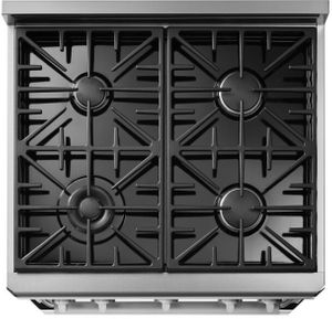 """HGR30PSNG Dacor 30"""" Professional Natural Gas Range with 4 Sealed Burners - Silver Stainless Steel"""