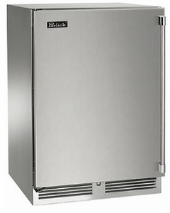 "HH24WS31L Perlick 24"" Wide Shallow Depth Wine Reserve with SS Door, Left Hinge & ADA Compliant - Stainless Steel"