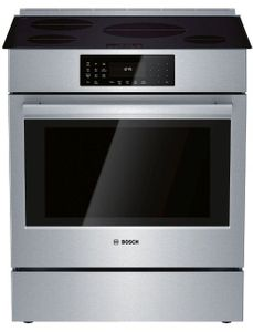 """HII8056U Bosch 30"""" 800 Series 5 Element Induction Slide-in Range with PreciseSelect and 11 Specialized Cooking Modes - Stainless Steel"""