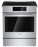 "HIIP055U Bosch 30"" Benchmark Series Induction Slide-in Range with Touch Controls and Genuine European Convection - Stainless Steel"