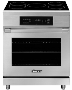"HIPR30S Dacor 30"" Heritage Collection Induction Pro Range with LED TiltVue Glass Touch Controls and Pro Style Bullnose Handle - Stainless Steel"
