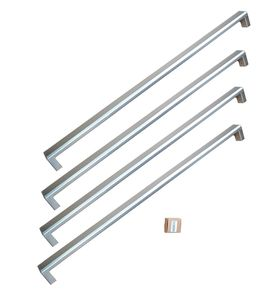 "PROHK36FD Bertazzoni Professional Series Handle Kit for 36"" French Door Refrigerator  - Stainless Steel"