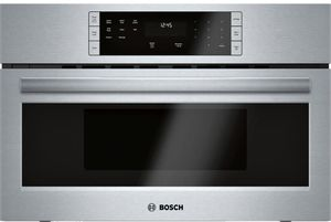 """HMB50152UC 30"""" Bosch 500 Series Built-In Microwave Oven with Sensor Cook Programs and 1.6 cu ft. Capacity - Stainless Steel"""