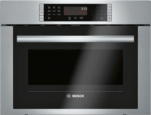 """HMC54151UC Bosch 24"""" 500 Series Microwave 2-in-1 Convection Speed Oven with 10 Power Levels and 1.6 cu ft. Capacity - Stainless Steel"""