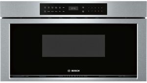 "HMD8053UC 30"" Bosch 800 Series Built-In Microwave Drawer with Glass Touch Controls and Interior Light - Stainless Steel"