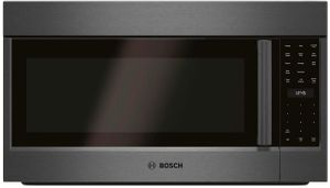 """HMV8044U Bosch 800 Series 30"""" Over the Range Convection Microwave with 385 CFM Ventilation and Multi Speed Vent Efficiency - Black Stainless Steel"""
